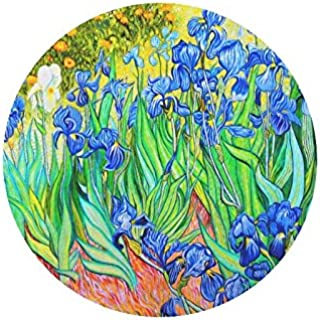 Vincent Van Gogh Painting Irises Durable Cloth Cover Round Mouse Pad 9.84