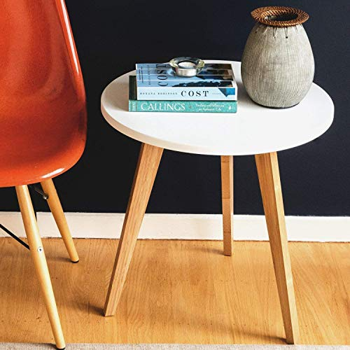 STNDRD. Bamboo End Table: Mid-Century Modern. Bedside Nightstand or Living Room Side Table (2-Pack)