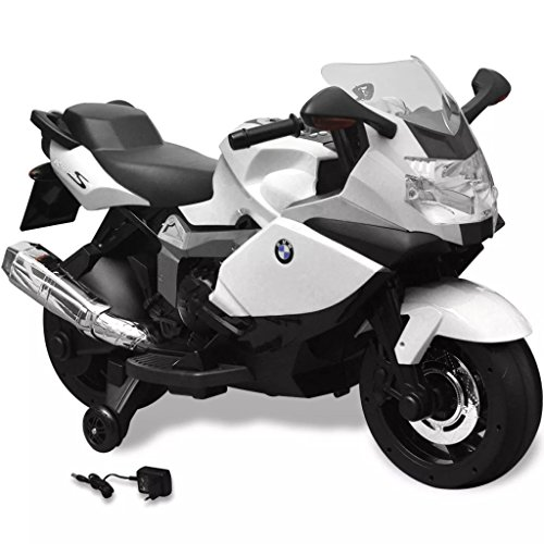 vidaXL Moto Elettrica per Bambini Bianca Batteria 6 V Giocattolo Cavalcabile