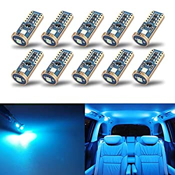 iBrightstar Newest Extremely Bright Wedge T10 168 194 LED Bulbs for Car Interior Dome Map Door Courtesy License Plate Lights Ice Blue