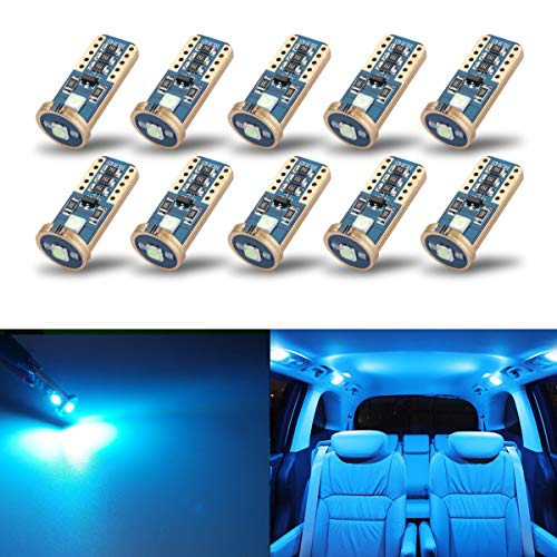 iBrightstar Newest Extremely Bright Wedge T10 168 194 LED Bulbs For Car Interior Dome Map Door Courtesy License Plate Lights,Ice Blue