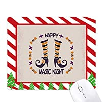 ハロウィーンの魔法のブーツ ゴムクリスマスキャンディマウスパッド
