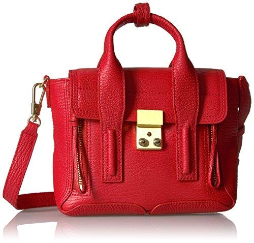 3.1 Phillip Lim Pashli Mini Satchel , Red , One Size