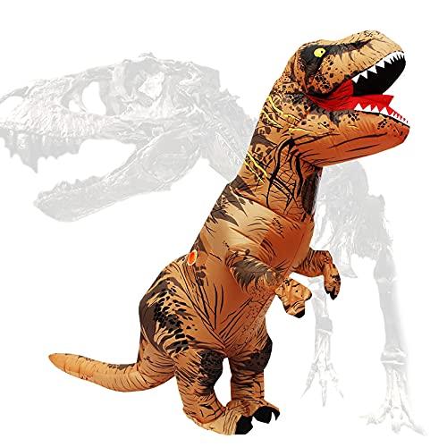 PARAYOYO T Rex Disfraz Dinosaurio Inflable Adulto T-Rex Disfraces para Halloween Brown