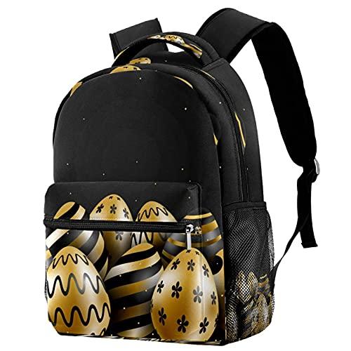 Mochila dorada para el día de Pascua, mochila de viaje, casual, para mujeres, adolescentes, niñas y niños