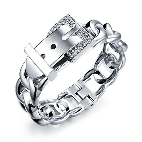 Adisaer Armreifen Indisch Silber Armbänder Damen Vintage Gürtel Panzerkette Handgelenk Poliert Weiß Trauung 66Gr 17Cm Geschenk Für Liebe