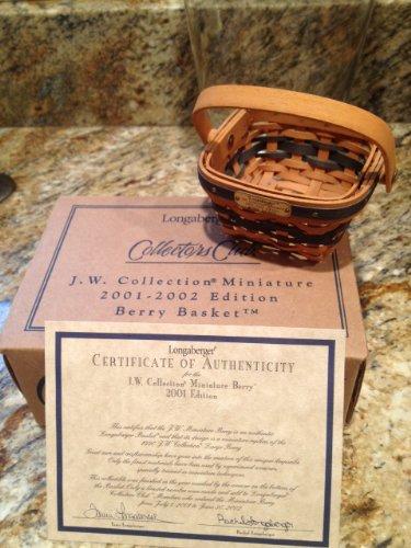 Longaberger 2001 J.W. Collection Miniature Edition Berry Basket