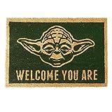 Star Wars Welcome You Are Unisex Felpudo Verde/marrón, PVC, 40 x 60 cm
