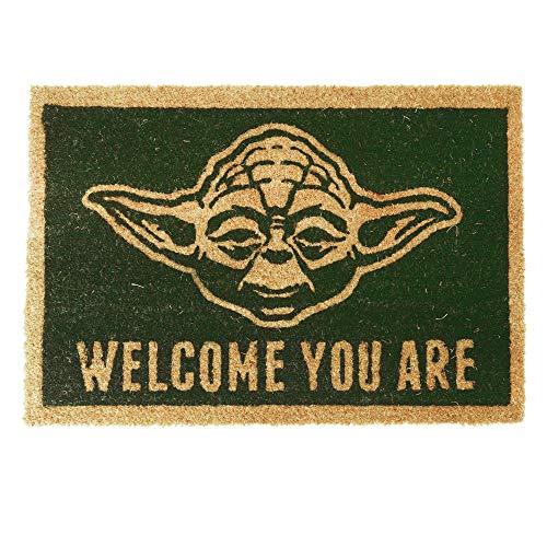 1art1 Star Wars Door Mat Floor Mat - Yoda, Welcome You are (24 x 16 inches)