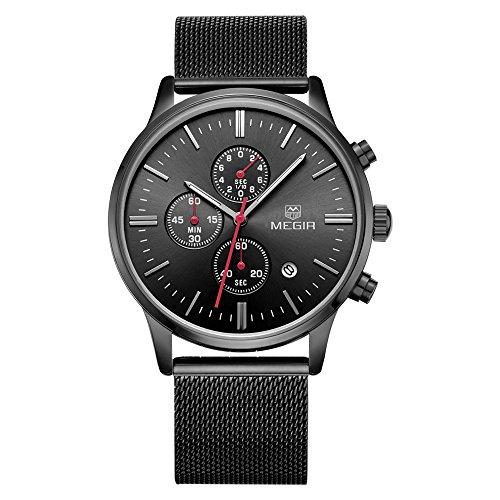 MEGIR Large Green Face Watches for...