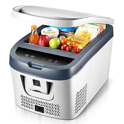 Car Refrigerator Mini Portable Car Freezer Cooler Heater 38L Compressor-Car/Home Dual-Use [12V-24V] + [220V] Travel/Camping Compact Car Refrigerator Outdoor Fridge