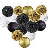 Erosion Frohes Jahr Party Dekorationen Schwarz Weiß Gold