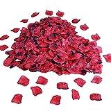 4000pcs Pétalos de Rosa para Bodas, Pétalos de Rosa Seda, Insípidos Pétalos de Rosa Artificiales, Decoración Mesa de Pétalos Rosa para San Valentín, Pasillo Bodas, Cama, Fiesta, Baño (Rojo Oscuro)
