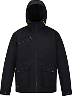Mens Winter Work Jacket Waterproof Hooded Quilted Military Coat Parka Outerwear