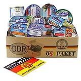 Ostpaket Rügen Fisch mit 10 Produkten der DDR inkl. Karte Geschenkidee, Fischpaket Geschenkset...
