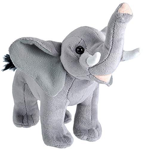 Wild Republic 23324 Elefant Kuscheltier, Wild Calls Stofftier mit Originalsound, Plüschtier, 20 cm, Multi
