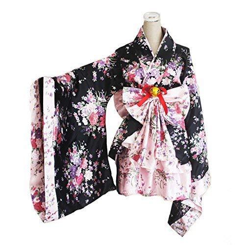 CoolChange Kimono Cosplay de Lolita con Falda con Volantes, Talla: XL