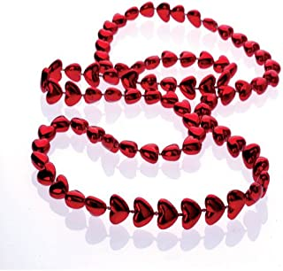 heart mardi gras beads