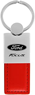 Au-Tomotive Gold, INC. DanteGTS - Ford Focus St Red Leather Car Fob Key Chain Ring