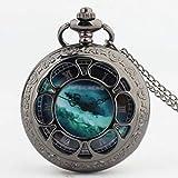 Xu Yuan Jia-Shop Reloj de Bolsillo Reloj de Bolsillo de la Vendimia de los números Romanos Escala de Cuarzo for Hombre del Reloj for Mujer con la Cadena graduación de cumpleaños Día de los Padres