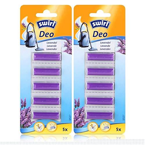 Swirl Staubsauger Deo Lavendel 5 Duftsticks - Für Staubsaugerbeutel (2er Pack)