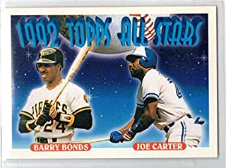 Baseball MLB 1993 Topps #407 Barry Bonds/Joe Carter AS