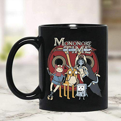 N\A Nueva Taza de Regalo Divertida Mononoke Time Adventure Time Mononoke Princess Taza de café Taza de cerámica Blanca mugreeva