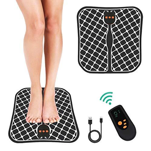 Masajeador de pies electrico,vibrolegs, EMS Masajeador de Pie Plegable,2020 Nuevo Control Remoto inalámbrico Carga USB cojín de Masaje de pie Plegable masajeador de Pulso para Oficina en casa