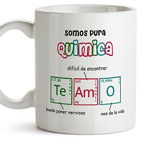 MUGFFINS Taza química (EN ESPAÑOL) - Somos Pura química - TE Amo - Regalo para Novias o Novios. - Cerámica - 11oz / 350 ml