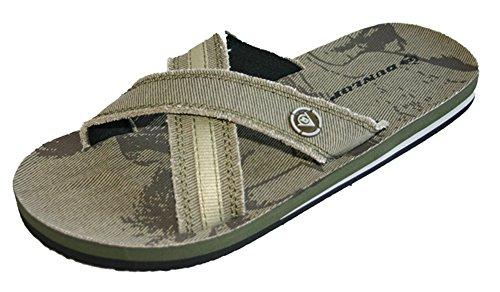Dunlop, DMP565, Badesandalen für Herren und Jungen, Flip-Flops für Strand und Pool, Größen: 40-46, Grün - khaki - Größe: 46 EU