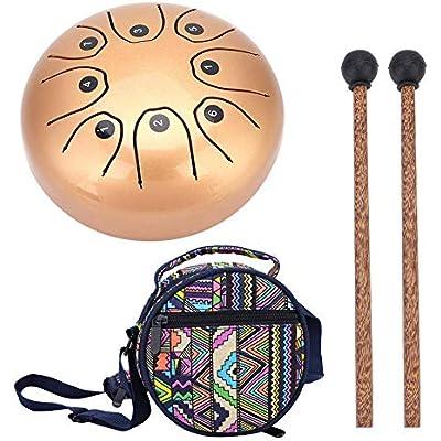 Tambor de acero Tambor de lengua con bastón para meditación Yoga Sonido Curación