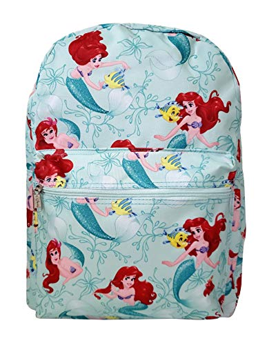 Disney Little Mermaid Princess Ariel & Flounder 16'' IN Backpack