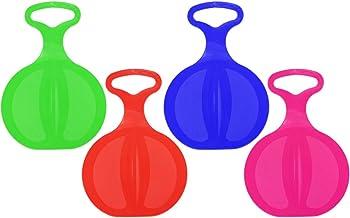 com-four® 4 Copo de Nieve, Trineo con asa en Colores Brillantes [la selección varía] (4 Piezas - Gratis)