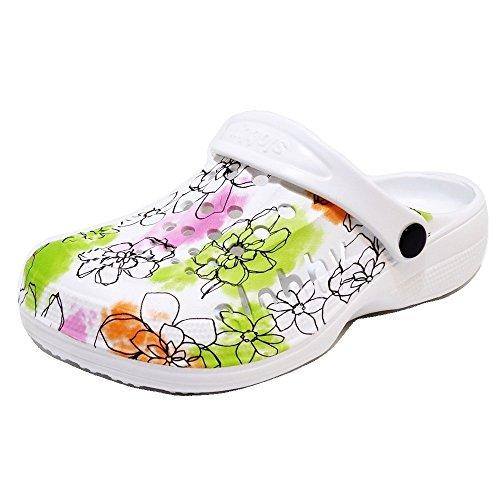 Damen Clogs Badeschuhe (58D) Badelatschen Pantoffel Pantoletten Schuhe Neu Größe 39, Farbe Grün