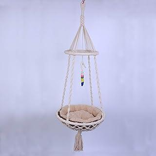 Laddawan Macramé Hanging Cat Hammock - Cat Bed Indoor Cat Swing Nest Cat Lover Gifts