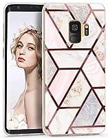 Imikoko Galaxy S9 ケース おしゃれ かわいい 衝撃 tpu 大理石 マーブル マット