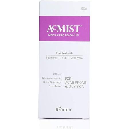 Brinton AcMist Moisturizing Cream Gel for Acne Prone and Oily Skin, Skin Cream, Moisture Cream, Moisturizing Cream, Dry Skin Cream, Skin Care Cream, 50 g