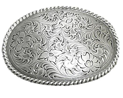 Nocona floral oval Gürtelschnalle Western Buckle Cowboy USA