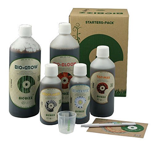 BioBizz Bio Starter-Pack Bio Bizz Grow Bloom Top Max Bio Heaven Root Saft