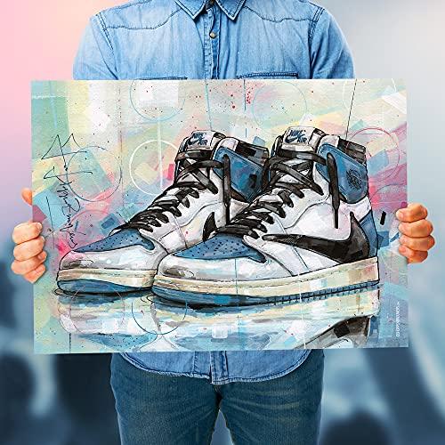 Póster Air Jordan 1 High Travis Scott x Fragment (50 x 70 cm) *unframed