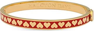 Skinny Heart Red & Gold Hinged Bangle #HBSHE0606G