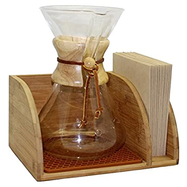 Blue Horse Caddy for Chemex Coffee Maker