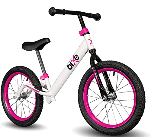 """Bixe 16"""" Pro Balance Bike for for Big Kids 5, 6, 7, 8 and 9 Year Old - No Pedal Sport Training Bicycle"""