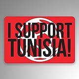 JMM Industries I Support Tunisie Soccer Lot de 2 autocollants en vinyle pour fenêtre de voiture Futbol 7,6 cm par 5,1 cm stratifié de qualité supérieure résistant aux UV PDS800