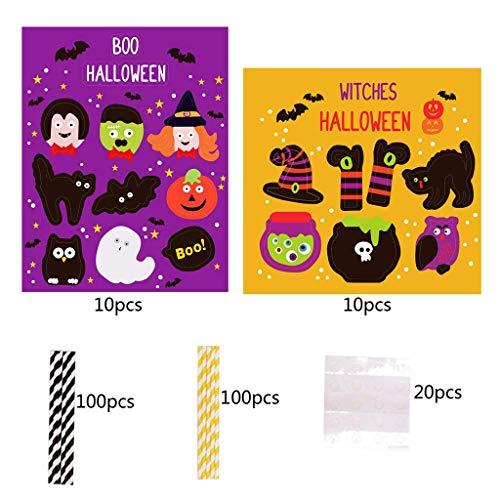 LQH Decoración de la araña de Halloween Ghost Bat Calabaza Pastel Toppers Conjunto Partido Ornamnets