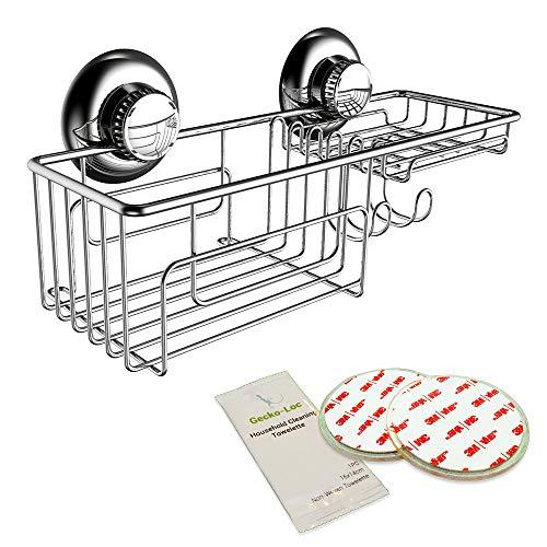 Gecko-Loc Suction Cup Shower Caddy Bath Organizer - Bathroom Storage...