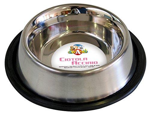 Croci, Ciotola in acciaio per gatti ,16 cm, 0,24 litri