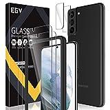 EGV Compatibile con Samsung Galaxy S21 Plus Pellicola Protettiva,2 Pack Vetro Temperato e 2 Pack...