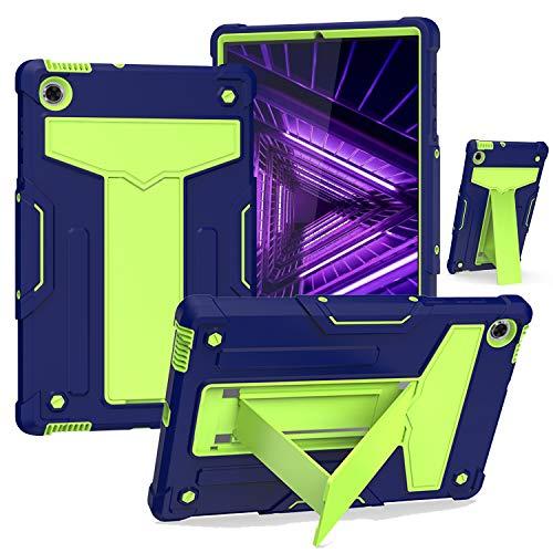 Custodia per tablet Lenovo Tab M10 FHD Plus (2nd Gen) TB-X606F / TB-X606X 10.3 pollici – Custodia ibrida con supporto robusto integrato – Blu Verde