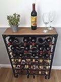 Steel Magnolias Casier à vin pour 36 bouteilles Finition rustique étain-Aucun montage requis